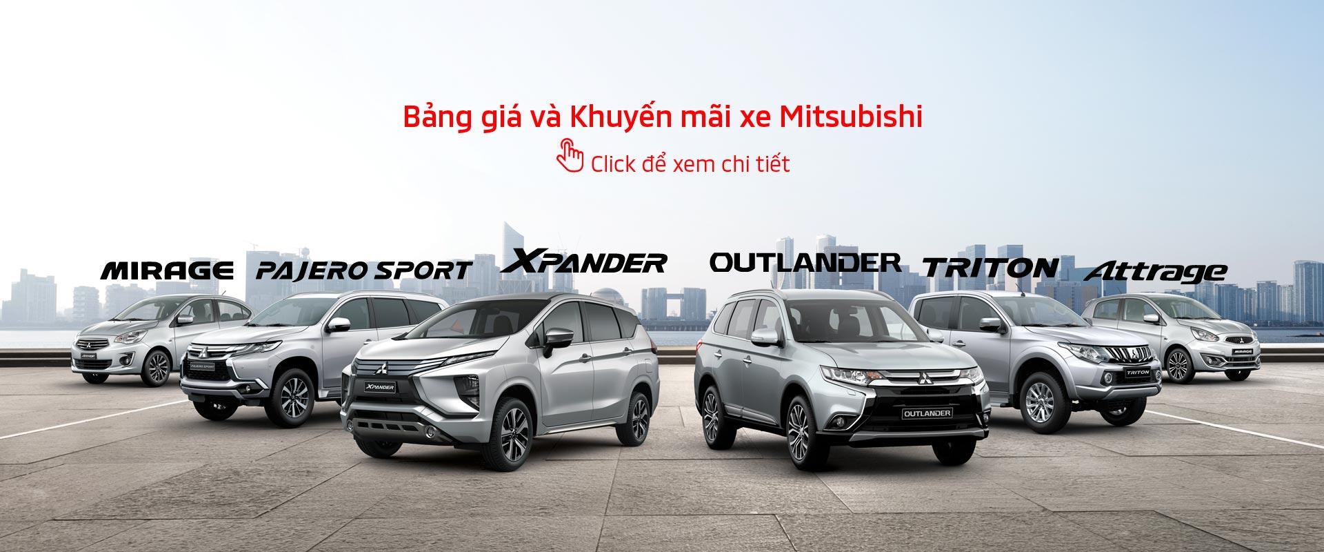 Bảng giá xe Mitsubishi tháng 07/2019